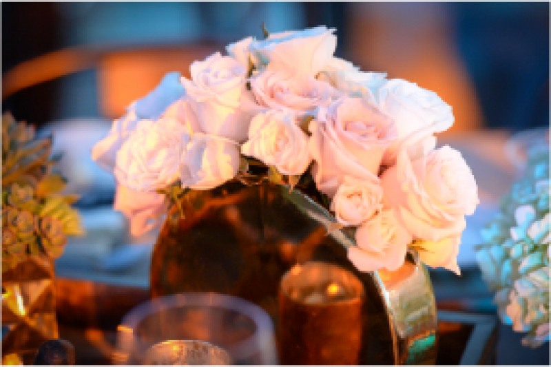 Event Floral Design Blush Pink Roses Gold