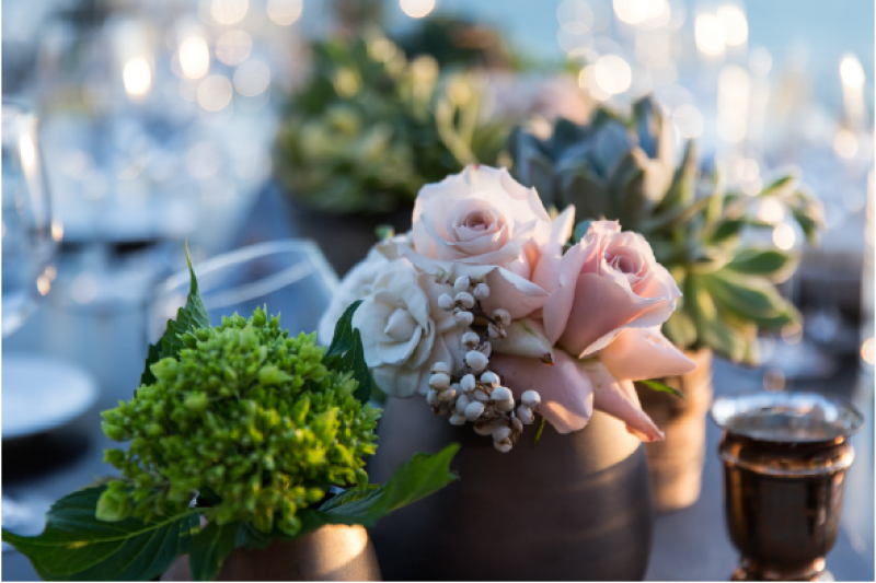 Event Floral Design Blush Roses
