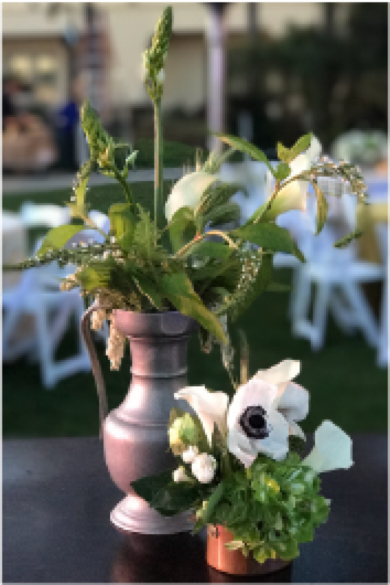 Event Floral Design Brass White Green