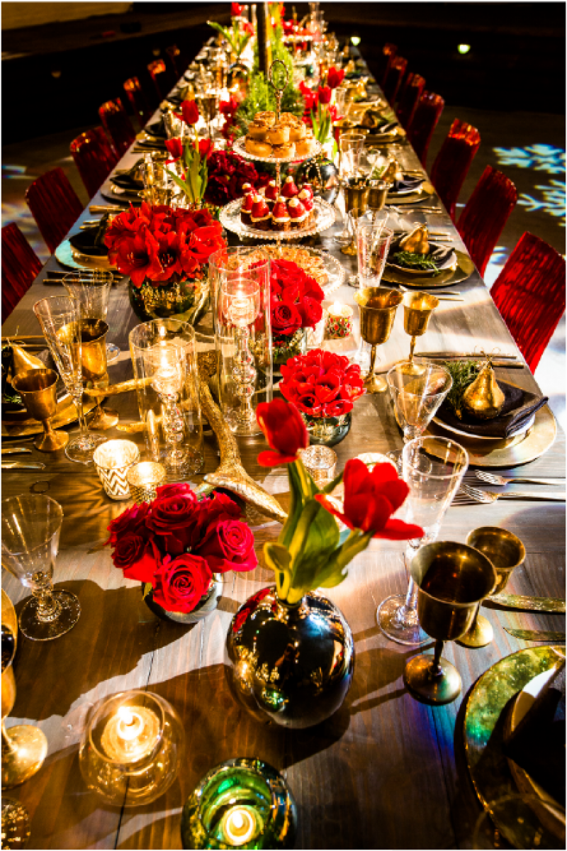 Event Floral Design Christmas Table Setting