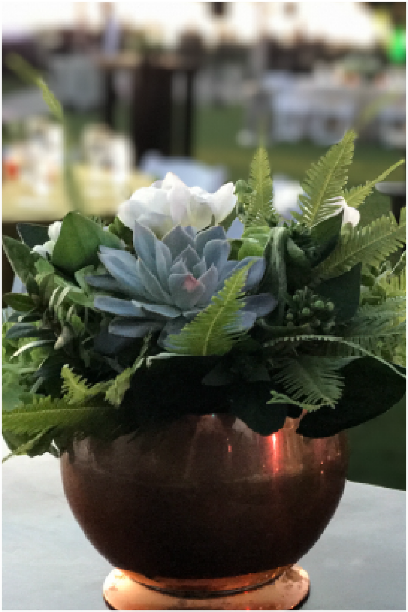 Event Floral Design Copper Bowl