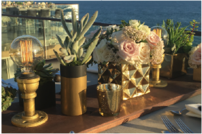 Event Floral Design Gold Geometric