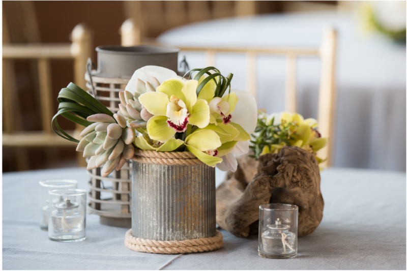 Event Floral Design Modern Nautical Galvanized