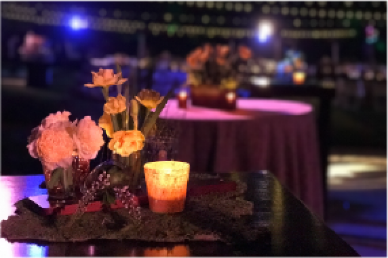 Event Floral Design Moss Table