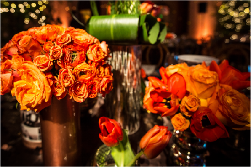 Event Floral Design Orange Roses