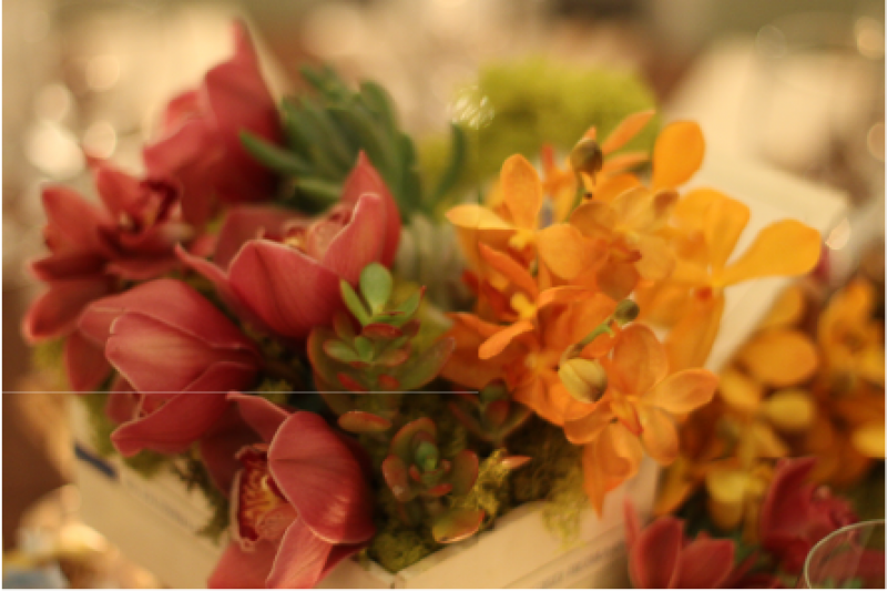 Event Floral Design Orange And Red