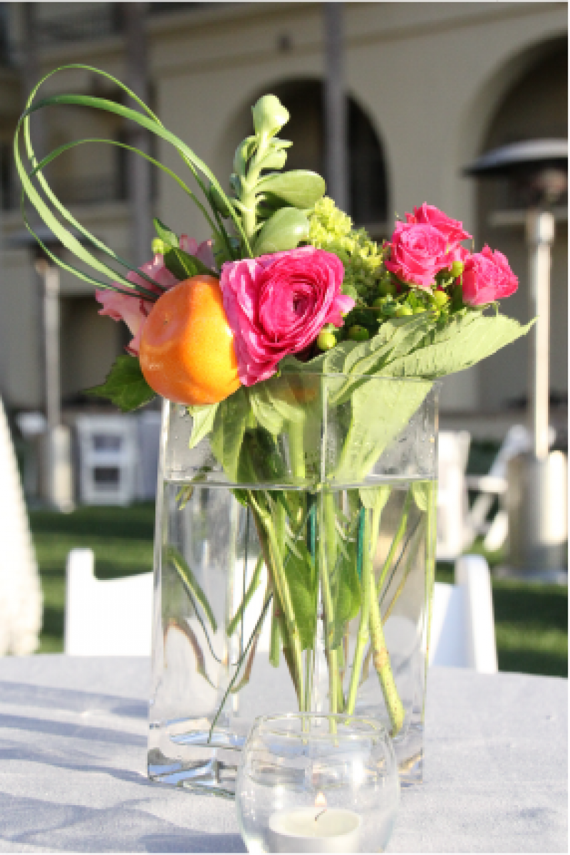 Event Floral Design Oranges And Roses