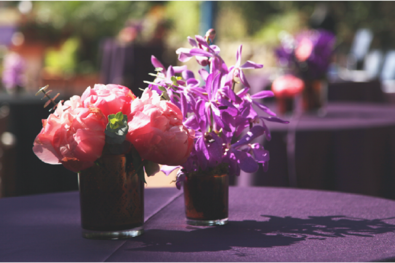 Event Floral Design Pink Purple Copper