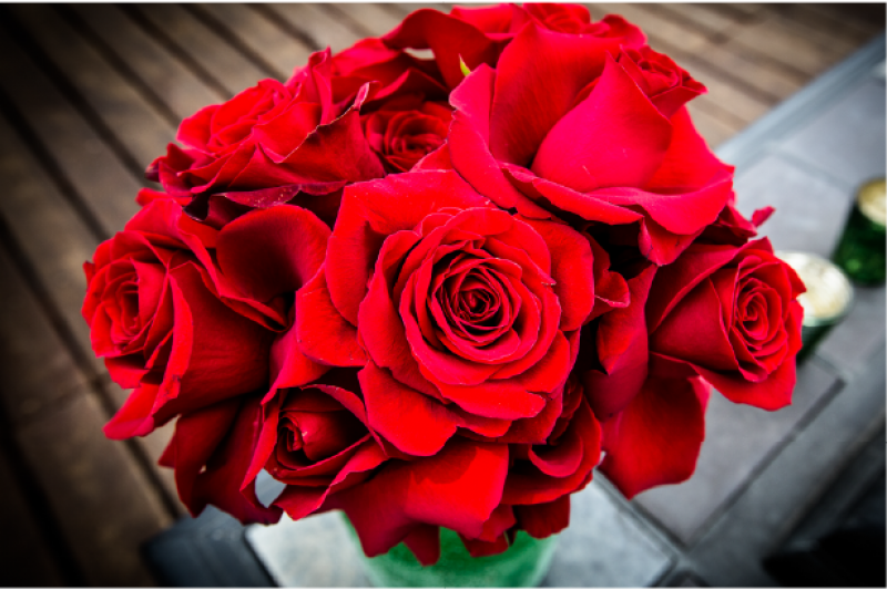 Event Floral Design Red Rose Bouquet