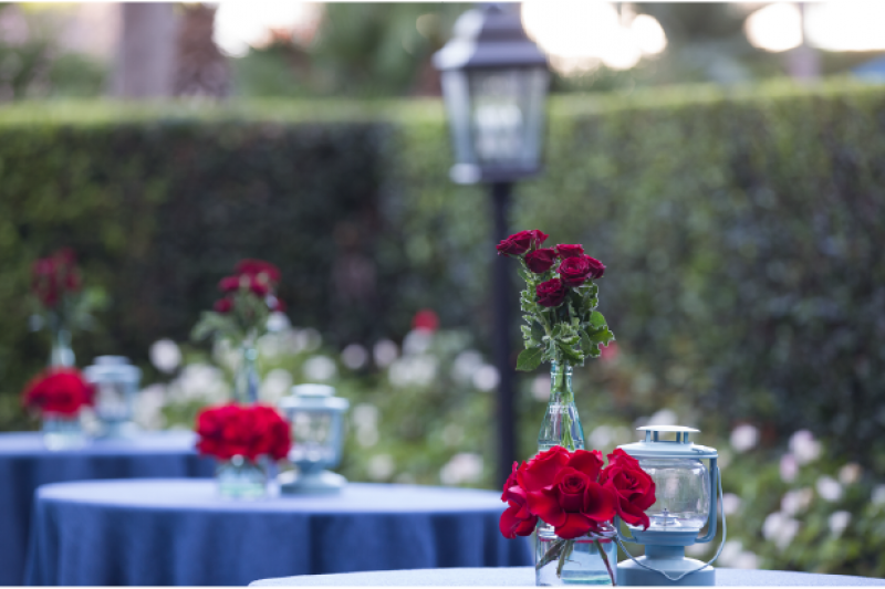 Event Floral Design Red Roses Blue