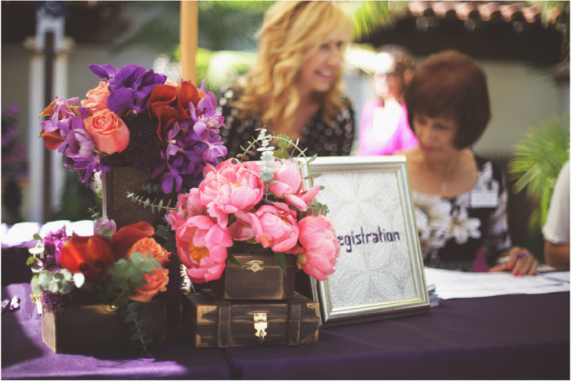 Event Floral Design Registration Table