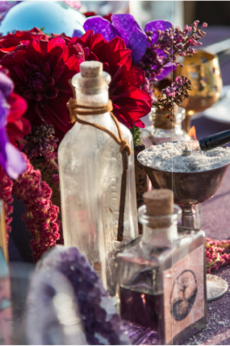 Event Floral Design Vintage Bottles